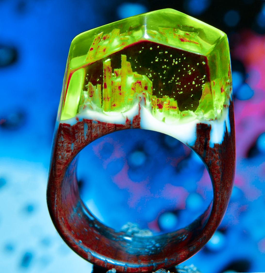 Оригинальное кольцо из эпоксидной смолы. Все тонкости и секреты изготовления.