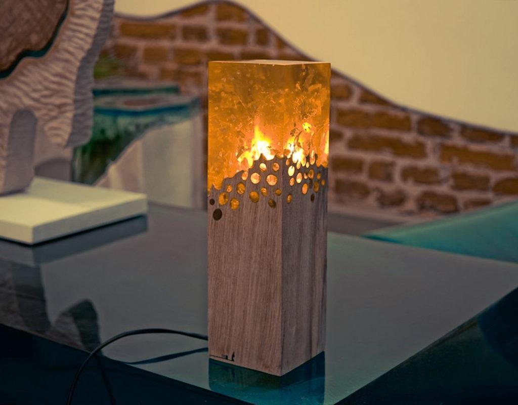 Светильник из эпоксидки, оригинальный и красивый, сделать своими руками.