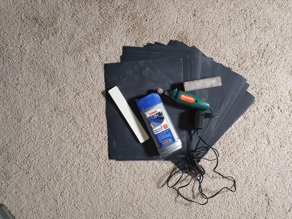 Инструменты для полировки эпоксидной смолы
